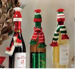 Wine Bottle Hat & Scarf Set