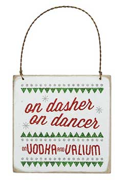 On Dasher Fancy Plaque Ornament