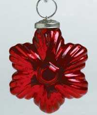 Mercury Star Ornament, Red
