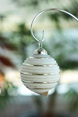 Frost White Festive Ornament - 3 inch