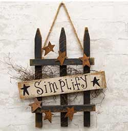 Simplify Picket Fence Sign