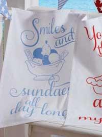 Smiles and Sundaes Dishtowel