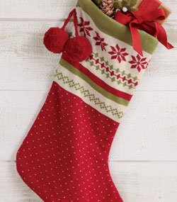 Nordic Winter Knit Stocking