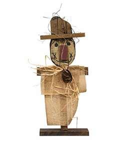 Burlap Scarecrow Stander