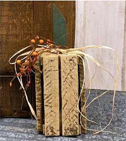 White Lath Crate Pumpkin - Vertical