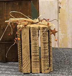 White Lath Crate Pumpkin Lantern