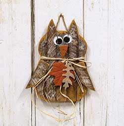 Lath Owl Wall Decor