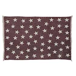 Antique Red Star Rug - 20 x 30 inch