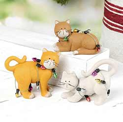Cats in Christmas Lights (Set of 3)