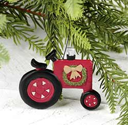 Christmas Tractor Ornament