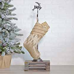 Celebrate Gold Christmas Stocking - 15 inch