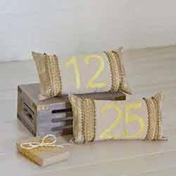 Celebrate Gold Decorative Pillow Set