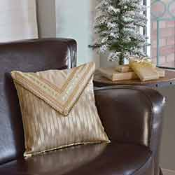 Celebrate Gold Decorative Pillow