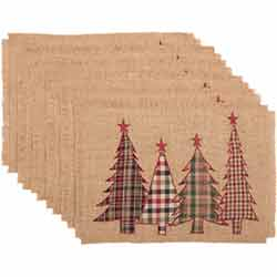 Clement Applique Tree Placemats (Set of 6)