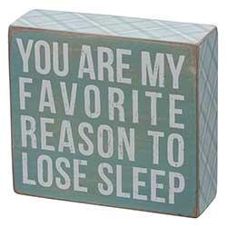 My Favorite Reason Box Sign - Blue