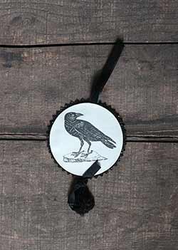 Halloween Disc Ornament - Crow