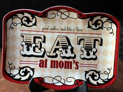Eat at Mom's Rectangle Platter
