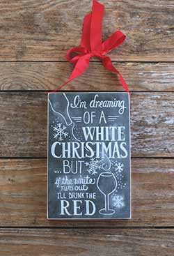 White Christmas Chalk Sign