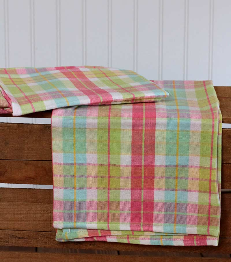 Spring Plaid Dishtowel