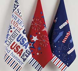 Star Spangled Printed Dishtowel