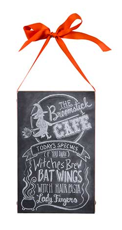 Broomstick Cafe Chalk Sign