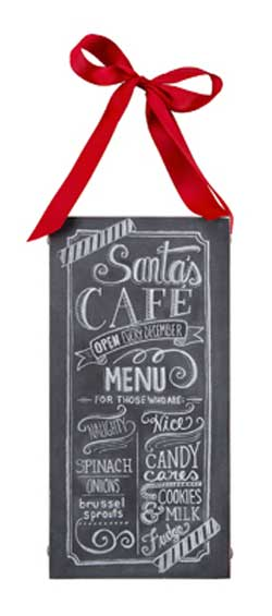 Santa Cafe Chalk Sign