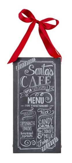 Santa Cafe Chalk Sign