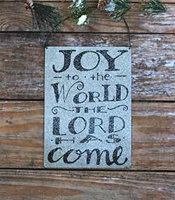Joy to the World Tin Sign