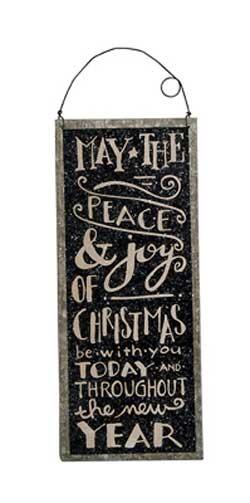 Peace & Joy Tin Sign