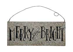 Merry and Bright Tin Sign