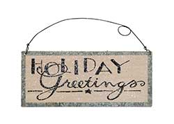 Holiday Greetings Tin Sign