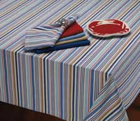 Boat Stripe Tablecloth   60 X 84 Inch