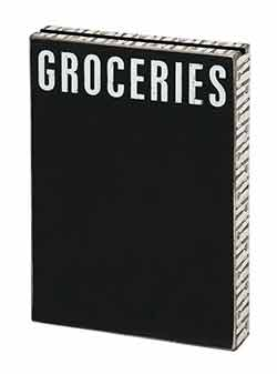 Groceries Box Sign / Chalk Board