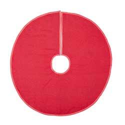 Red Burlap Tree Skirt – 36 inch