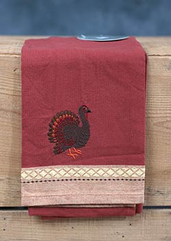 Turkey Embroidered Kitchen Towel