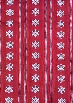 Snowflake Dobby Stripe Tablecloth - 52 x 52 inch