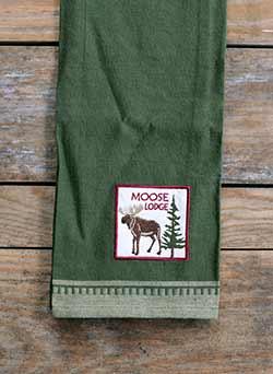 Moose Applique Dishtowel