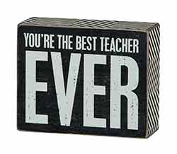 Best Teacher Box Sign