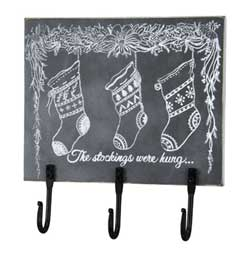 Chalk Art Stockings Hook Board