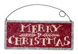 Merry Christmas Tin Sign