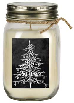 Balsam Fir Soy Mason Jar Candle with Tree