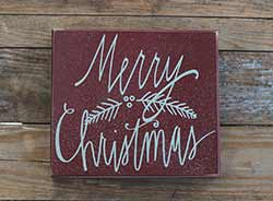 Merry Christmas Box Sign