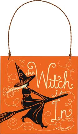 The Witch Is In Ornament