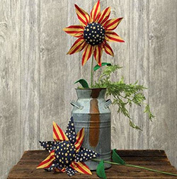 Americana Sunflower Picks (Set of 2)