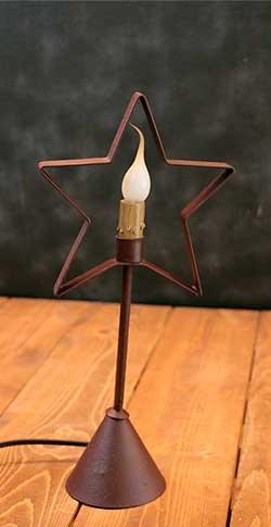 Star Candlestick Lamp - Red (Medium)