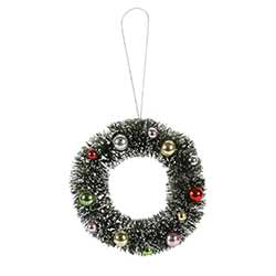 Beaded Bottlebrush Wreath Ornament