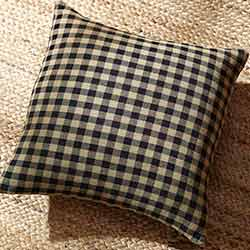 Black Check Throw Pillow