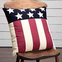 Modern American Flag Throw Pillow (18 inch)