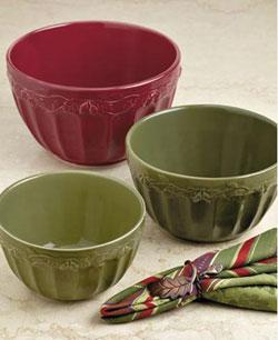 Autumn Acorns Mixing Bowls (Set of 3)