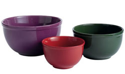 Jewel Tones Mixing Bowls (Set of 3)